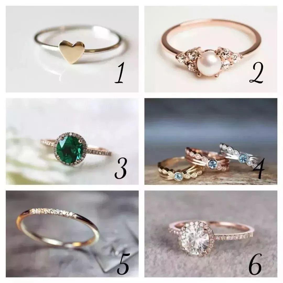 超准‖六枚戒指选一枚,1秒测出你的心理年龄!